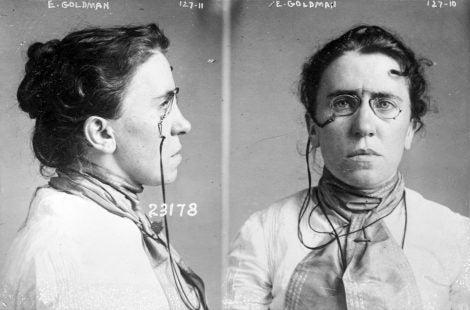 Emma Goldman's mugshot
