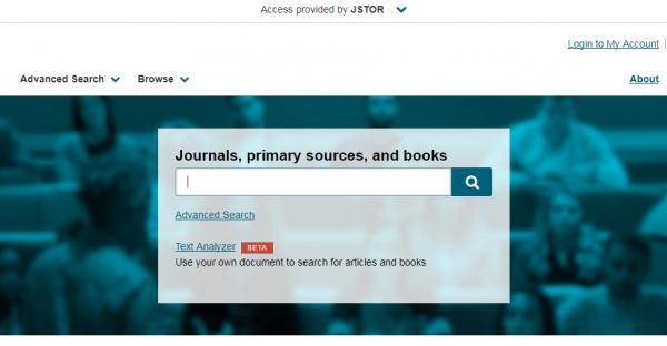 New JSTOR interface