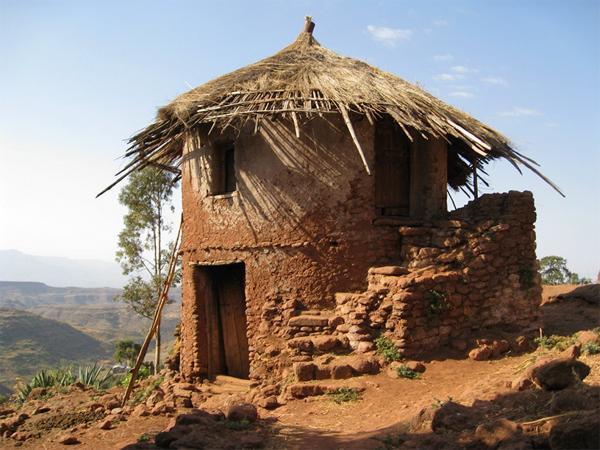 Image of a hut in Lalibela, Ethiopia
