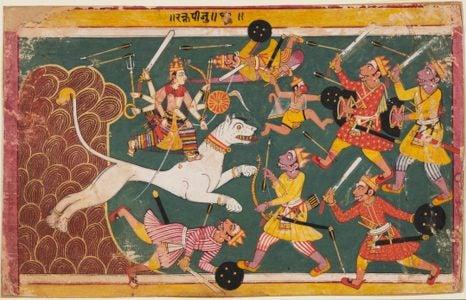 A page from the Devi-Mahatmya, ca. 1640