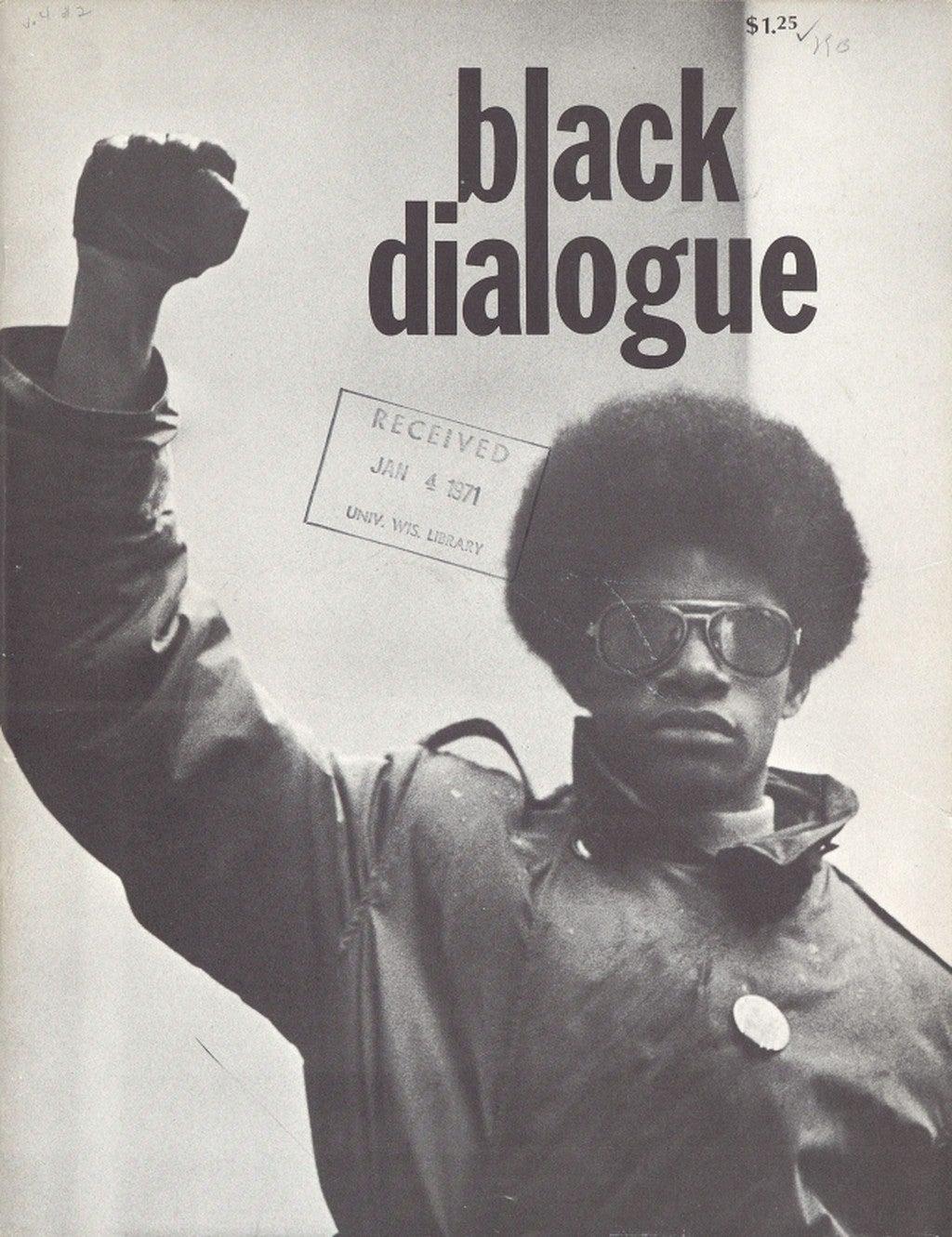 Magazine Cover for Black Dialogue. Vol. 4, No. 2, 1970