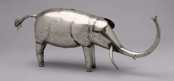 Fon. Silver elephant figure. 19th c