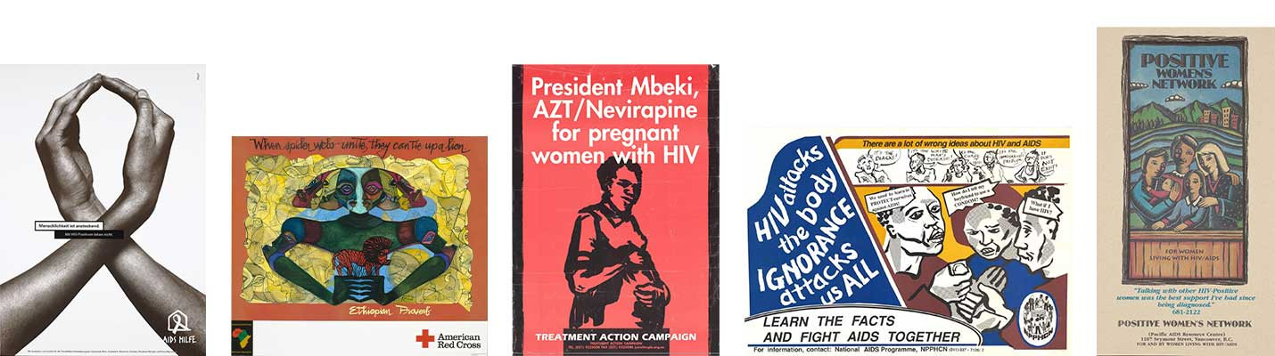 Banner highlighting materials in the HIV, AIDS & the Arts collection